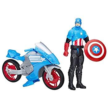 2021新発 【 Cycle】【輸入品・未使用未開封】Marvel Titan Hero Series Series Captain With America With Battle Cycle [並行輸入品], 詫間町:735625a4 --- greencard.progsite.com
