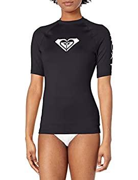 特別セール品 中古 輸入品 未使用未開封 Roxy レディース Whole 人気ブランド Hearted カラー: Medium ブラック US 半袖ラッシュガード サイズ: