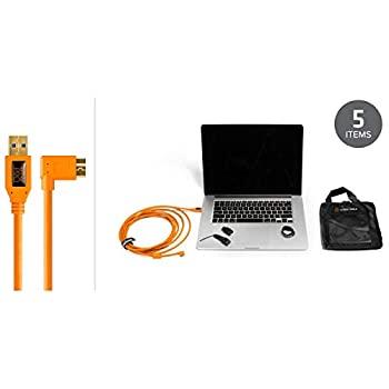 いよいよ人気ブランド 中古 輸入品 未使用未開封 スターターテザリングキット TetherPro USB 3.0 - L字型ケーブル 15フィート 新入荷 流行 高視認性オレンジ Micro-B 4.6m