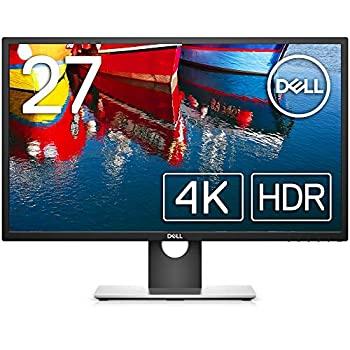 【中古】【輸入品日本向け】Dell 4Kモニター 27インチ UP2718Q(3年間無輝点交換保証/AdobeRGB 100%/HDR/IPS非光沢/カラーマネジメント/キャリブレーション/DPmDPHDMIx2)