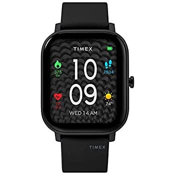 中古 輸入品日本向け Timex タイメックス 予約販売品 ユニセックス シリコンストラップ付き ブラック 限定Special Price メトロポリタンS スマートウォッチ