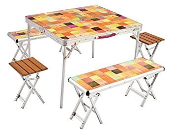 送料込 中古 輸入品日本向け コールマン Coleman テーブル 約13.2kg 値引き 2000026757 ナチュラルモザイクファミリーリビングセットプラス