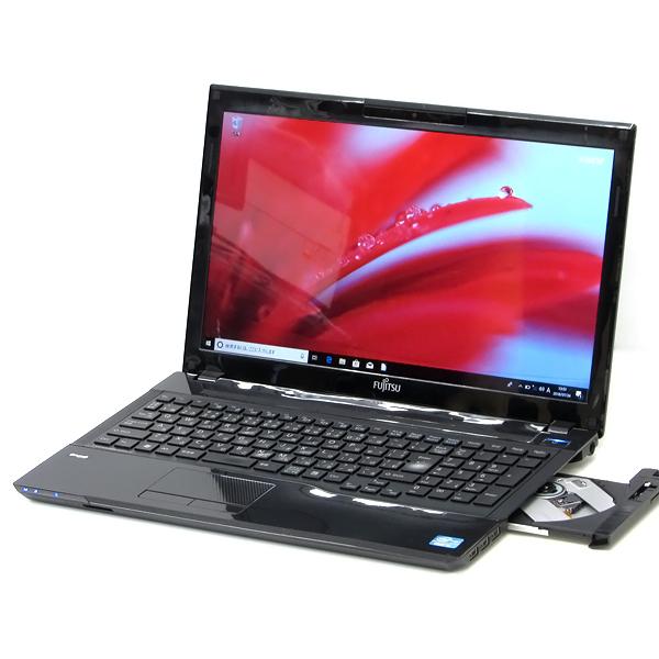 【中古】中古パソコン ノートパソコン 新品SSD 富士通 LIFEBOOK AH45/H Core i3 2350M 2.3GHz 4GB 120GB DVDマルチ Bluetooth Windows10 Office 送料無料