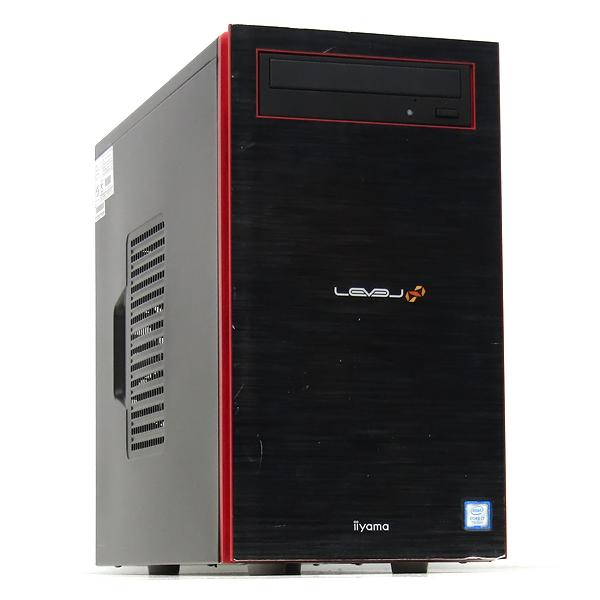 【中古】中古パソコン ゲーミングPC デスクトップ 本体 iiyama LEVEL GeForce GTX1070 Core i7 7700 3.6GHz 16GB 新品SSD 512GB+1TB Windows10 Office DVDマルチ