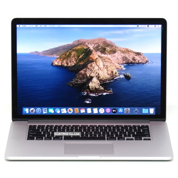 【中古】メモリ16GB Apple MacBook Pro Mid 2015 15.4インチ Retina Core i7 4770HQ 2.2GHz SSD256GB IrisPro USキー 英語キー Webカメラ 中古パソコン ノートパソコン OS変更オプションあり テレワーク A1398 MJLQ2J/A