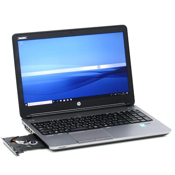 【中古】中古パソコン ノートパソコン 本体 hp ProBook 650 G1 フルHD液晶 Windows 10 Core i7 4610M 3.0GHz 8GB 新品SSD 256GB Office搭載 15インチ テンキー 無線LAN Bluetooth Webcam DVD