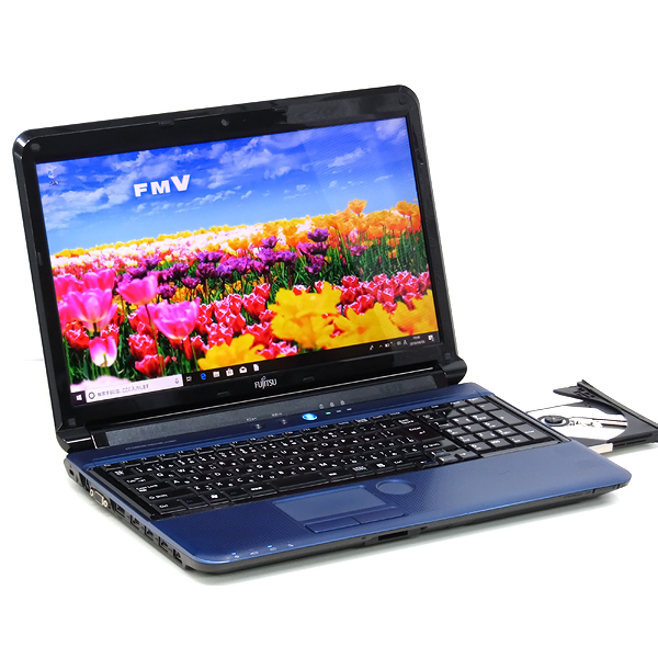 【中古】中古パソコン ノートパソコン 本体 富士通 LIFEBOOK AH56/C 新品SSD Core i7 2670QM 2.2GHz 8GB 512GB Windows10 Office 15インチ DVDマルチ 無線LAN Webcam クアッドコア 4コア テンキー