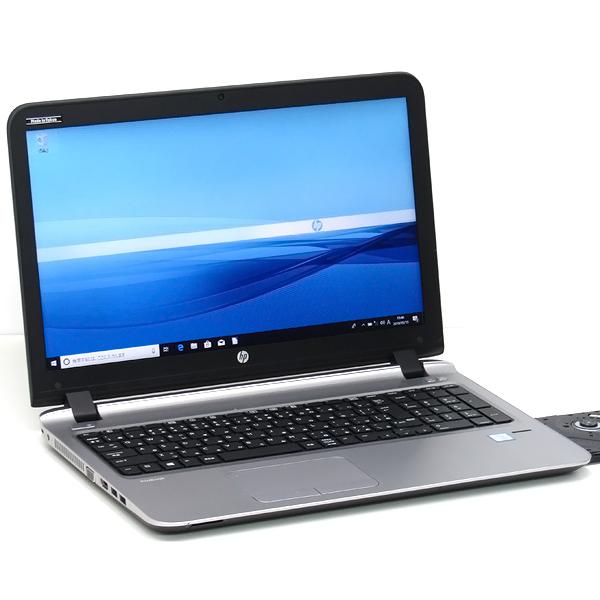 【中古】中古パソコン ノートパソコン 本体 hp ProBook 450 G3 新品SSD Core i5 6200U 2.3GHz 8GB 512GB Windows10 Office搭載 15インチ DVDマルチ テンキー Bluetooth 無線LAN Webcam