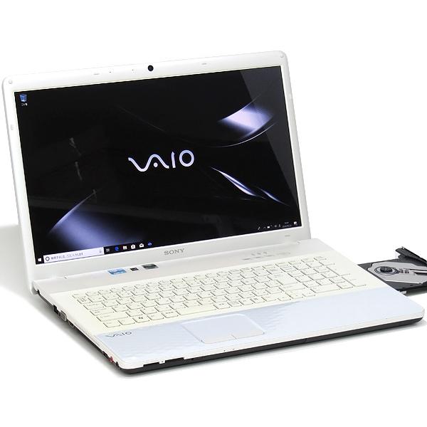 【中古】中古パソコン ノートパソコン 本体 SONY ソニー VAIO VPCEJ3AJ 17インチ 新品SSD搭載 Core i5 2520M 2.5GHz 8GB 256GB Windows10 ブルーレイ Office搭載 GeForce 無線LAN Webcam テンキー Blu-ray 家庭用 個人向け