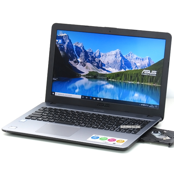 【中古】美品 SSD搭載 ASUS VivoBook U541UA 第6世代 Core i3 15インチ Windows10 テンキー グラデーションカラー LibreOffice 無線LAN Webカメラ Bluetooth 中古パソコン ノートパソコン 本体