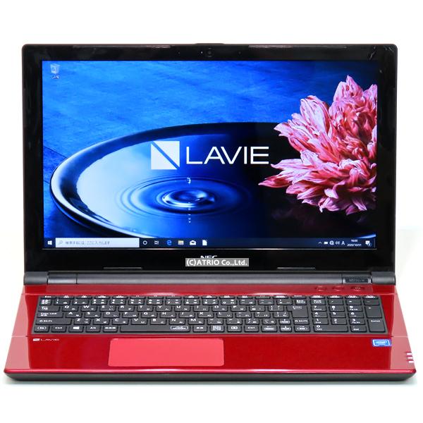 【中古】美品 大容量新品SSD NEC LAVIE NS150/H 第7世代 Celeron メモリ8GB 512GB テンキー Webカメラ Windows10 15インチ LibreOffice 中古パソコン ノートパソコン ノートPC 本体 テレワーク 家庭用 個人向け 赤 レッド