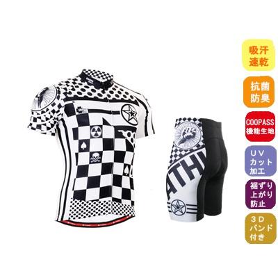 韓国最新デザイン メーカー直売 サイクルウェア 男性夏用 サイクリング ウェア サイクルジャージ 上下 セット 自転車ウェア 半袖ウエア【送料無料】