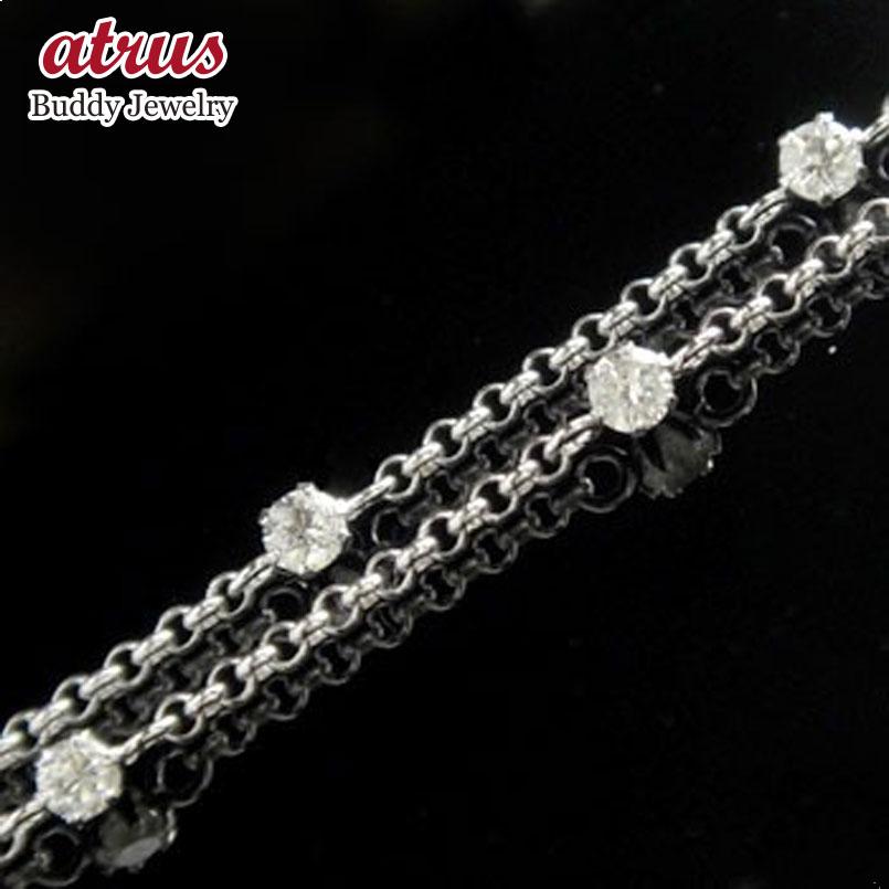 ダイヤモンド アンクレット ホワイトゴールドk18 フルエタニティ 18金 レディース ダイヤ 宝石 送料無料