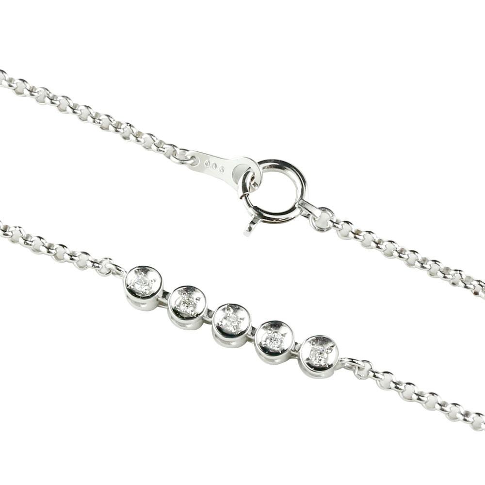 ダイヤモンド アンクレット ホワイトゴールドk18 ダイヤモンド0.06ct 4月の誕生石 18金 チェーン レディース ダイヤ 宝石 送料無料