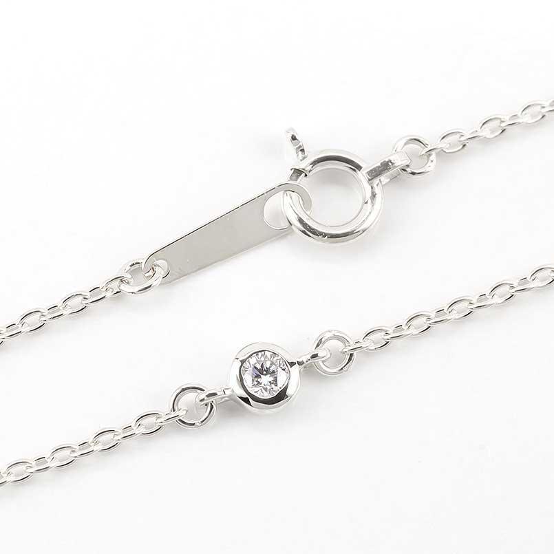 ダイヤモンド アンクレットプラチナ850ダイヤモンド 0.05ctプラチナアンクレット4月の誕生石ダイヤモンド チェーン レディース ダイヤ 宝石 送料無料