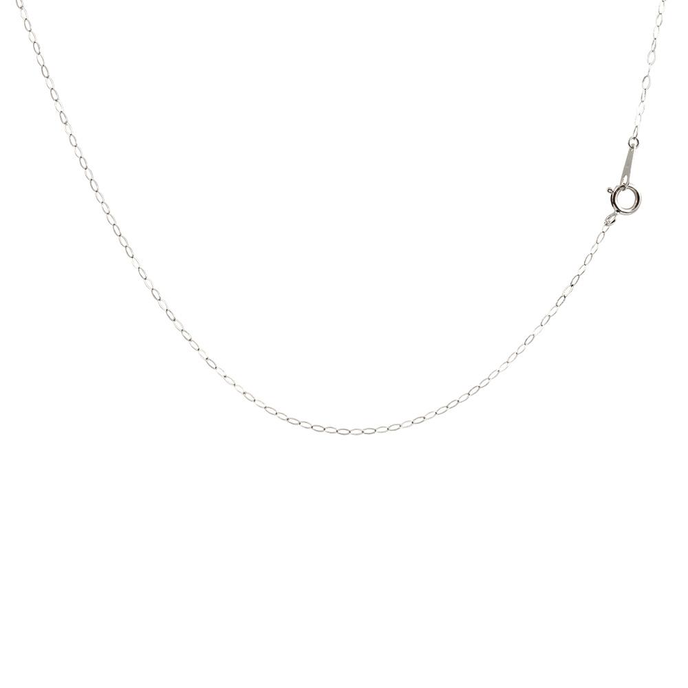 18金 ネックレス ロングネックレス ホワイトゴールドk18 アズキ 角アズキ チェーン 鎖 レディース 100cm 地金 小豆 ファッション 18k お返し
