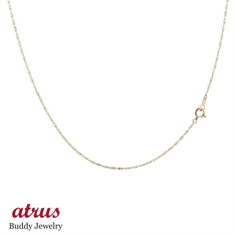 18金 ネックレス ロングネックレス イエローゴールドk18 チェーン ペダルチェーン 鎖 レディース 90cm 地金 ファッション 18k お返し