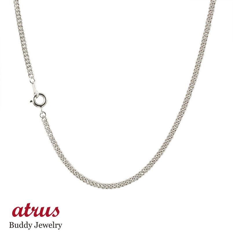 喜平 プラチナロングネックレス 2面カット 2.3ミリ幅 チェーン 80cm 鎖 レディース pt850 キヘイ 地金ネックレス ファッション お返し
