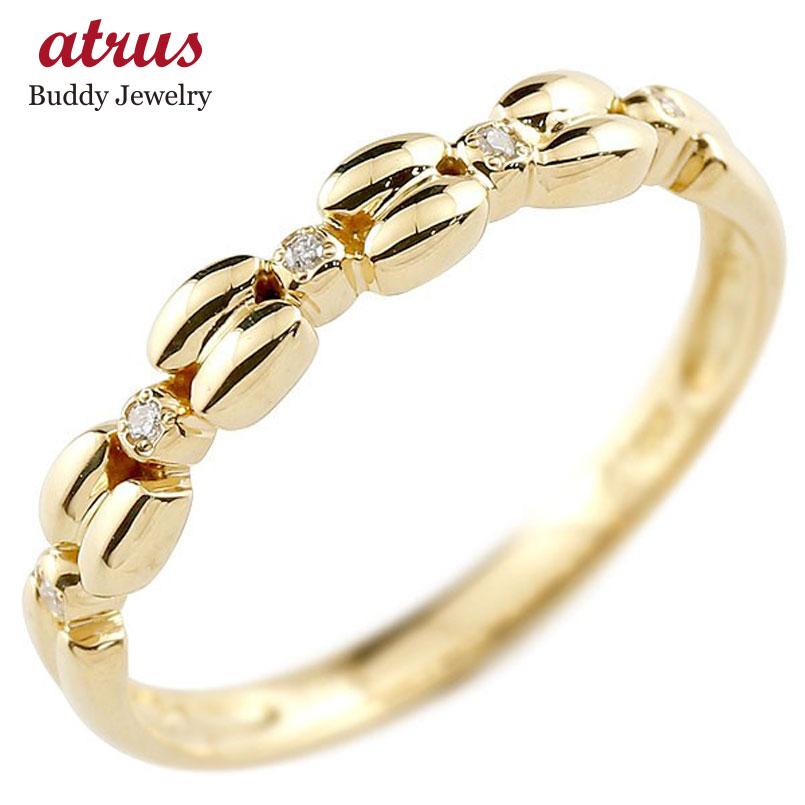 ピンキーリング イエローゴールドk10リング ダイヤモンド シンプル 指輪 華奢リング 重ね付け 指輪 細め 細身 k10 アンティーク レディース 贈り物 誕生日プレゼント ギフト ファッション お返し 妻 嫁 奥さん 女性 彼女 娘 母 祖母 パートナー 送料無料