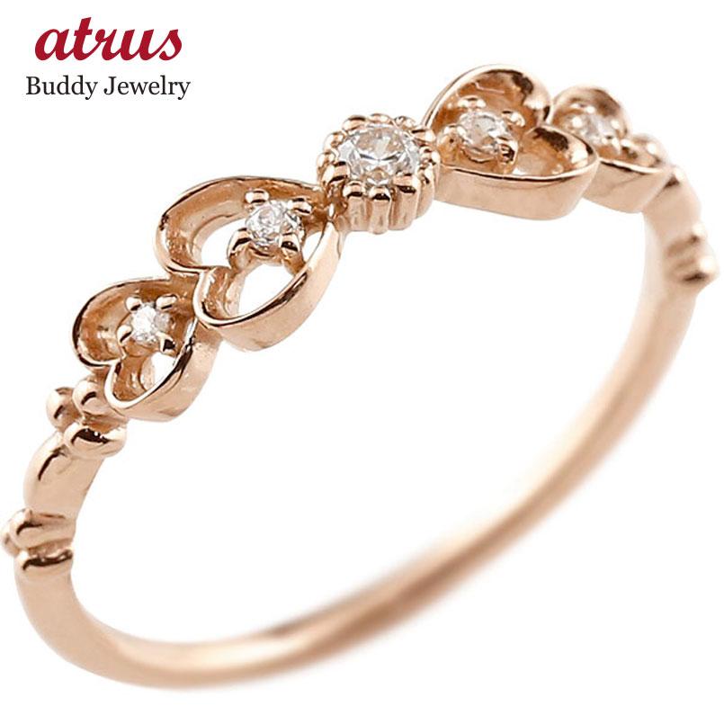 【送料無料】ピンキーリング りぼん リボン ピンクゴールドk18リング ダイヤモンド シンプル 指輪 華奢リング 重ね付け 指輪 細め 細身 k18 アンティーク レディース ring 贈り物 誕生日プレゼント ギフト ファッション お返し