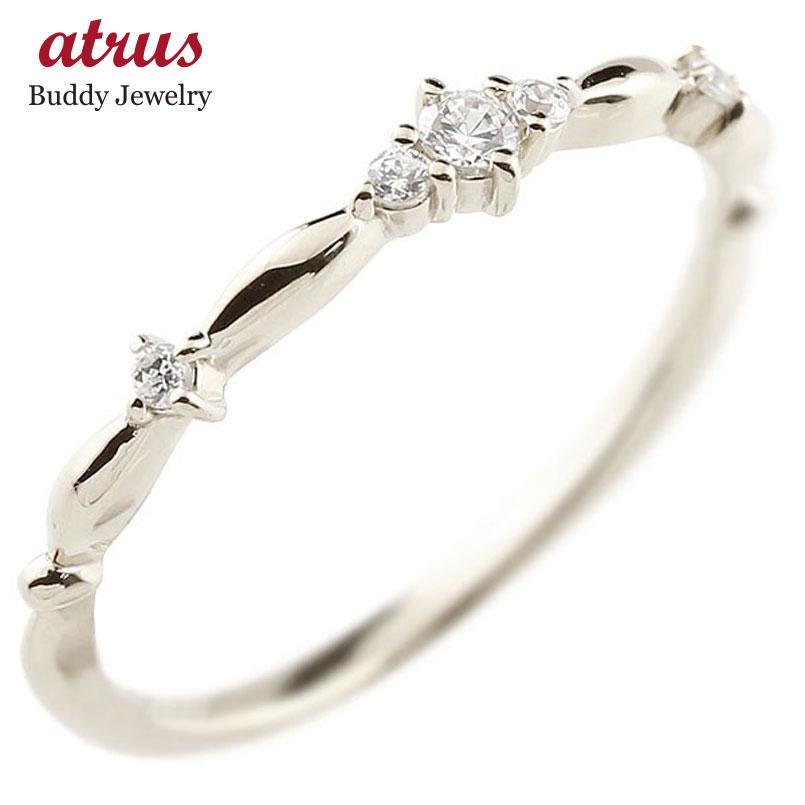 ピンキーリング ホワイトゴールドk10リング ダイヤモンド シンプル 指輪 華奢リング 重ね付け 指輪 細め 細身 k10 アンティーク レディース 贈り物 誕生日プレゼント ギフト ファッション お返し 妻 嫁 奥さん 女性 彼女 娘 母 祖母 パートナー 送料無料