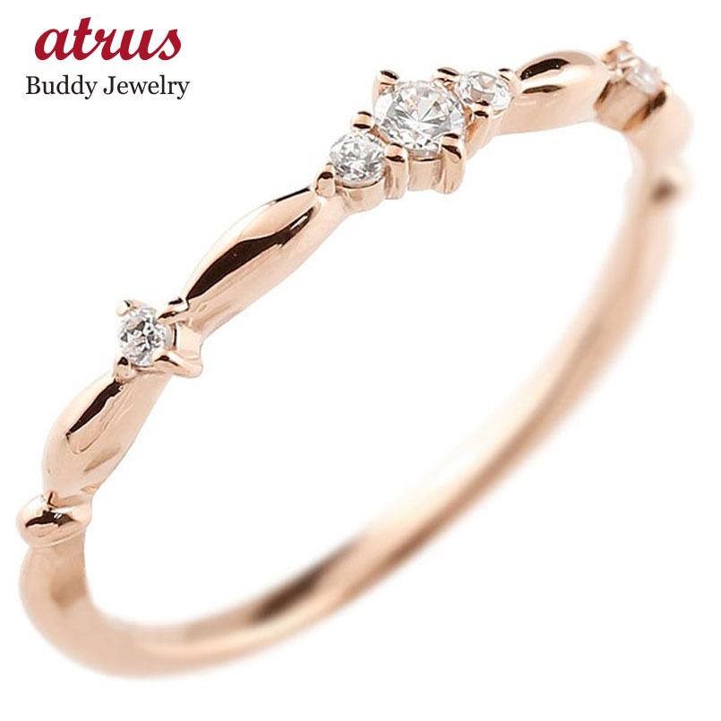 ピンキーリング ピンクゴールドk10リング ダイヤモンド シンプル 指輪 華奢リング 重ね付け 指輪 細め 細身 k10 アンティーク レディース 贈り物 誕生日プレゼント ギフト ファッション お返し 妻 嫁 奥さん 女性 彼女 娘 母 祖母 パートナー 送料無料