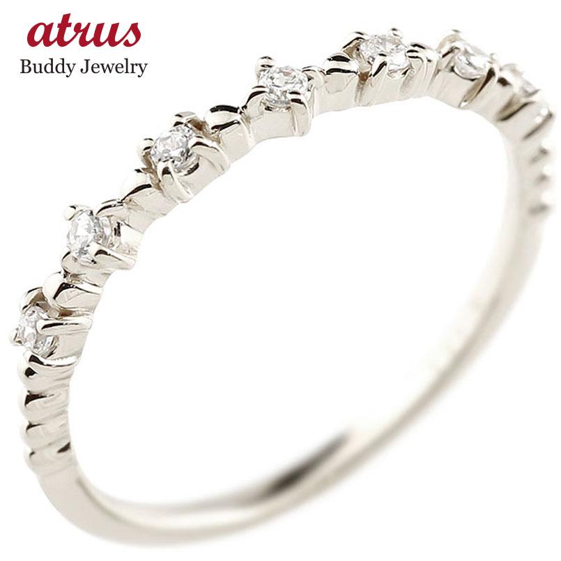 【送料無料】ピンキーリング ホワイトゴールドk10リング ダイヤモンド シンプル 指輪 華奢リング 重ね付け 指輪 細め 細身 k10 アンティーク レディース 贈り物 誕生日プレゼント ギフト ファッション お返し