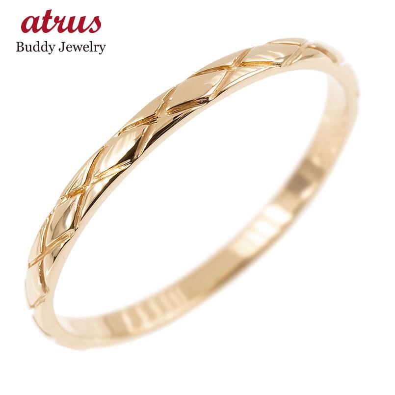 ピンキーリング ピンクゴールドk10 極細 10金 華奢 アンティーク ストレート 指輪 男性用 送料無料 父の日