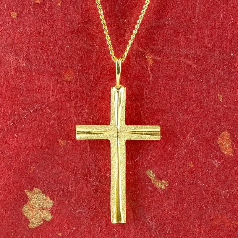 造幣局検定刻印付 の レディース トップ 純金 ペンダント 24K クロス ゴールド チェーン ネックレス 送料無料 十字架 喜平 24金