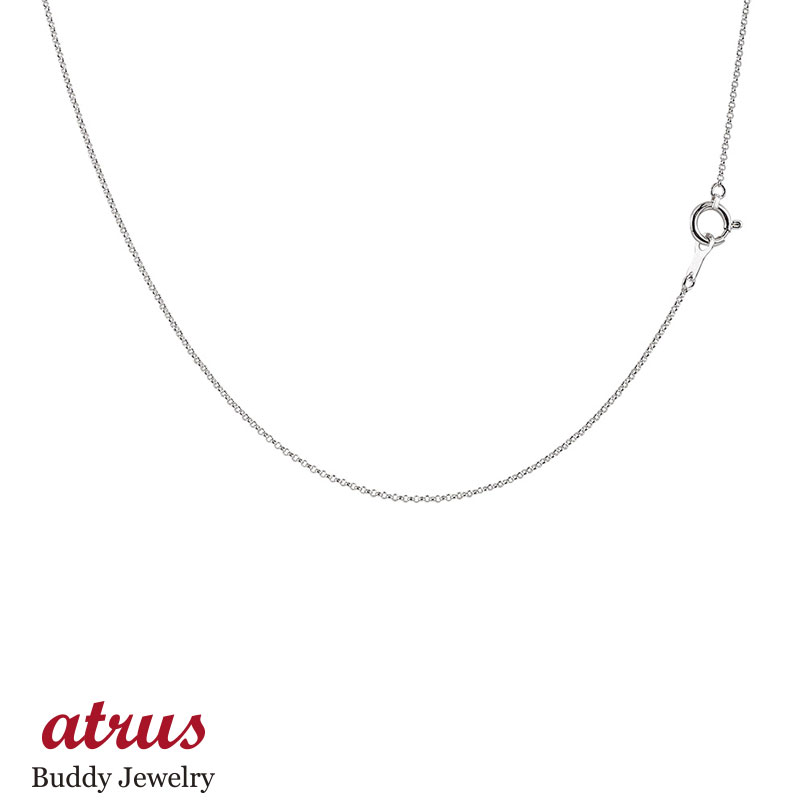 【送料無料】ロングネックレス ホワイトゴールドk14 ワッカチェーン レディース 100cm 地金ネックレス 14金 ファッション お返し
