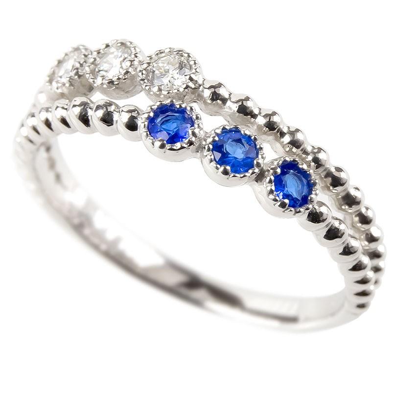【あす楽】プラチナ リング ダイヤモンド アウイナイト 2連 レディース 指輪 pt900 婚約指輪 安い エンゲージリング ピンキーリング 女性 送料無料