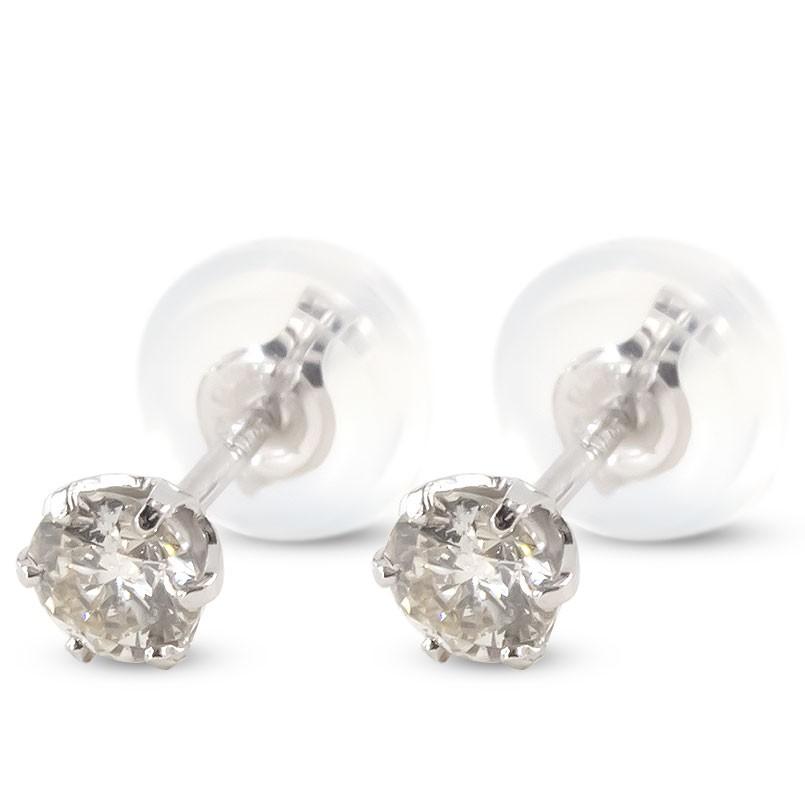 【あす楽】18金 ピアス ダイヤモンド レディース スタッドピアス ゴールド 18K ホワイトゴールドk18 宝石 ダイヤ 一粒 女性 シンプル 送料無料