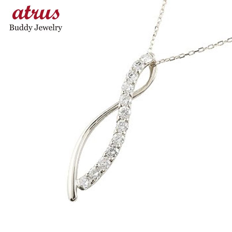 ダイヤモンド ネックレス プラチナ ペンダント ダイヤ 0.30ct チャーム チェーン 人気 pt900 送料無料