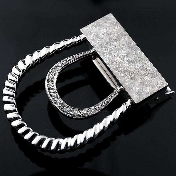 メンズジュエリー バックル シルバー ダイヤモンド sv925 ベルト 男性用 送料無料