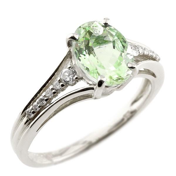 エンゲージリング 婚約指輪 一粒 ペリドット ホワイトゴールドk18 大粒 指輪 ダイヤモンド 8月誕生石 18金 ストレート 宝石 送料無料