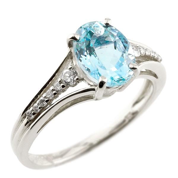 婚約指輪 安い エンゲージリング 婚約指輪 プラチナ 一粒 ブルートパーズ 大粒 指輪 ダイヤモンド 11月誕生石 ストレート 宝石 送料無料
