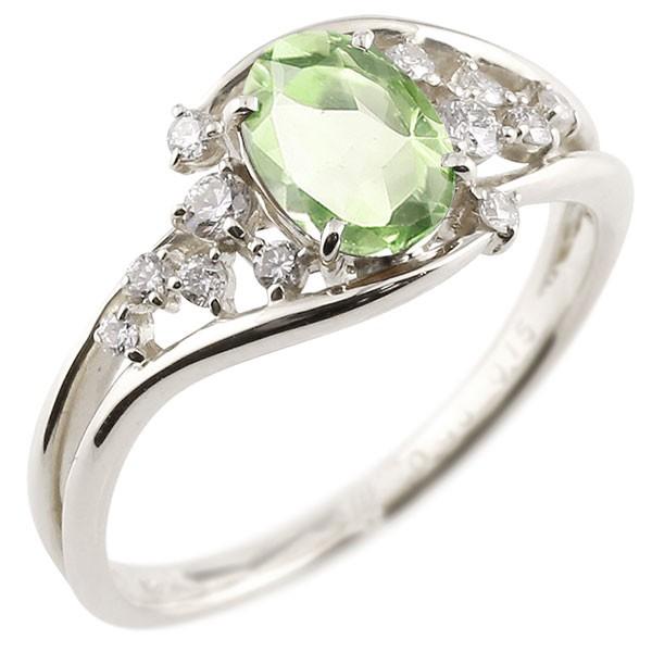 婚約指輪 安い エンゲージリング 婚約指輪 プラチナ 一粒 ペリドット 大粒 指輪 ダイヤモンド 8月誕生石 宝石 送料無料