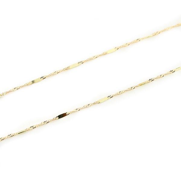 ネックレス チェーン 18金 40cm 18k チェーン スクリューソード イエローゴールドk18 1.2ミリ幅 パーツ 送料無料