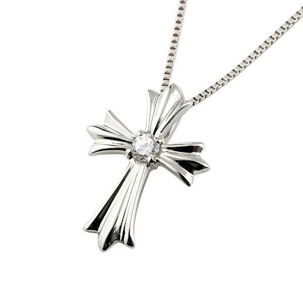 メンズ ダイヤモンド ペンダントプラチナ900 ダイヤ ネックレス トップ 十字架 クロス プラチナ チェーン 人気 送料無料