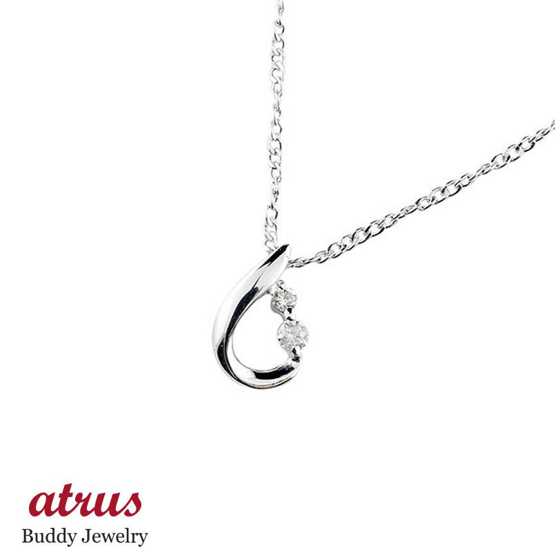 プラチナ ネックレス トップ レディース ティアドロップ ダイヤモンド ダイヤ ペンダント pt900 チェーン 人気 宝石 雫 つゆ型 涙型 送料無料