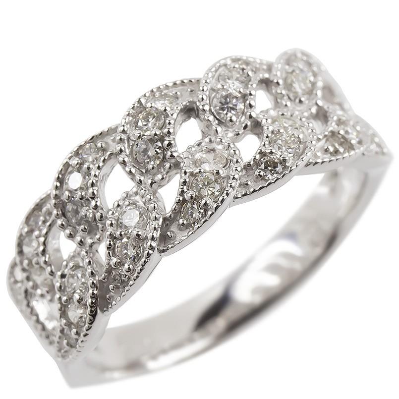 婚約指輪 安い プラチナ リング ダイヤモンド レディース 指輪 幅広 透かし pt900 ピンキーリング 女性 送料無料