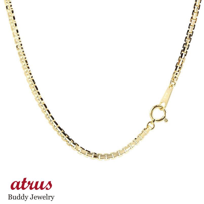 18金ネックレス 70cm イエローゴールドK18 ベネチアンチェーン 12面カット レディース 地金 ネックレス 18金 18k k18 女性 送料無料