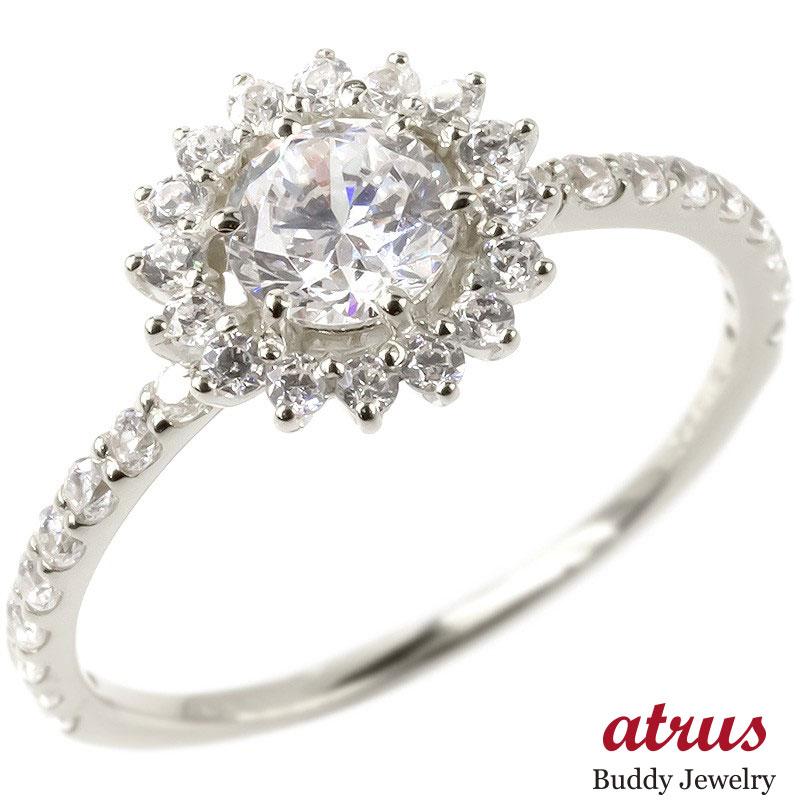 プラチナ リング レディース ダイヤモンド 鑑定書付き VVSクラス 婚約指輪 安い エンゲージリング ダイヤ 指輪 ピンキーリング 取り巻き pt900 女性 送料無料