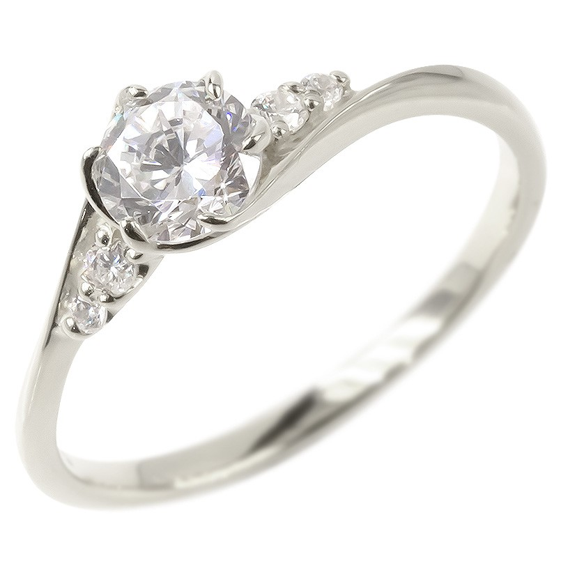 婚約指輪 安い プラチナ リング レディース ダイヤモンド 鑑定書付き VVSクラス エンゲージリング ダイヤ 指輪 ピンキーリング pt900 宝石 女性 人気 送料無料