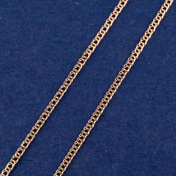 10金 ネックレスチェーン ネックレス 40cm チェーン 喜平 ダブル喜平 ピンクゴールドk10 1.5ミリ幅 送料無料