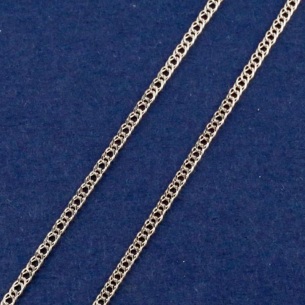 10金 ネックレスチェーン ネックレス 40cm チェーン 喜平 ダブル喜平 ホワイトゴールドk10 1.5ミリ幅 送料無料