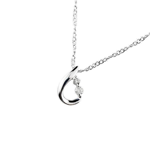 ネックレス トップ レディース チェーン 人気 ティアドロップ ダイヤモンド ダイヤ ペンダント ホワイトゴールドk18 18金 宝石 雫 つゆ型 涙型 送料無料