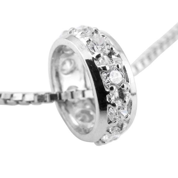 ダイヤモンド ペンダントホワイトゴールドk10 ダイヤ ネックレス トップ リングネックレス トップ エタニティー 10金 チェーン 人気 送料無料
