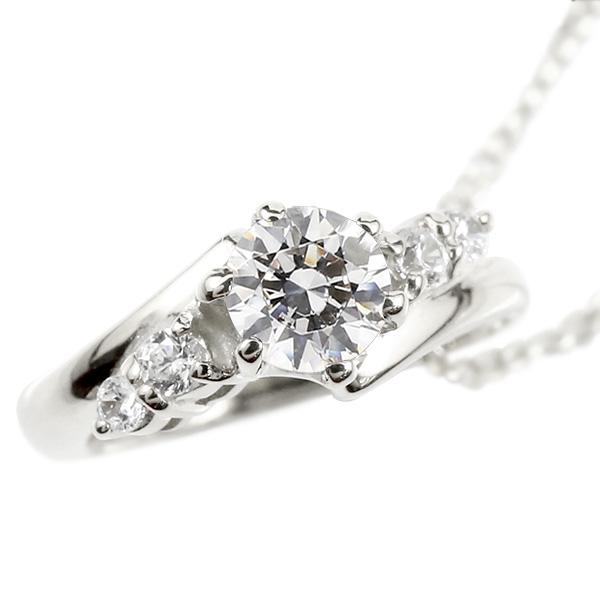 ネックレス メンズ ダイヤモンド ベビーリング シルバー925 チェーン ネックレス シンプル ダイヤ 人気 sv925 プレゼント 4月誕生石 男性用 父の日
