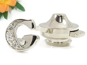 文字 ダイヤモンド イニシャルブローチホワイトゴールドK18ダイヤモンド タックピン ダイヤ 18金 送料無料